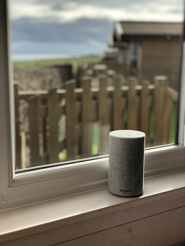 Amazon Alexa in a lodge at Highlands End Holiday Park