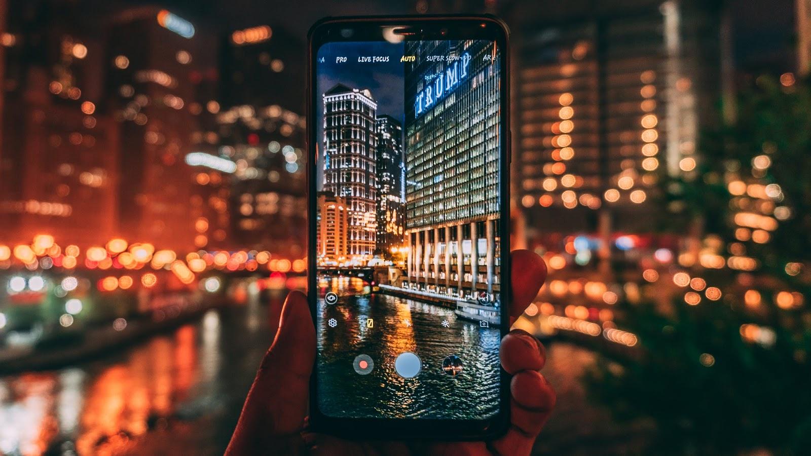 Phone Taking a Photo
