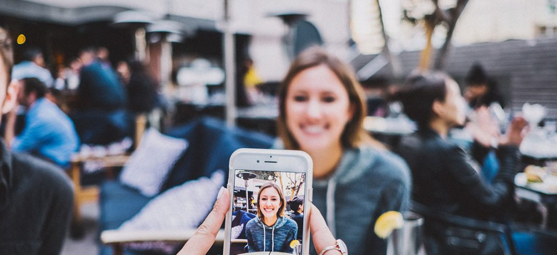 Social media selfie